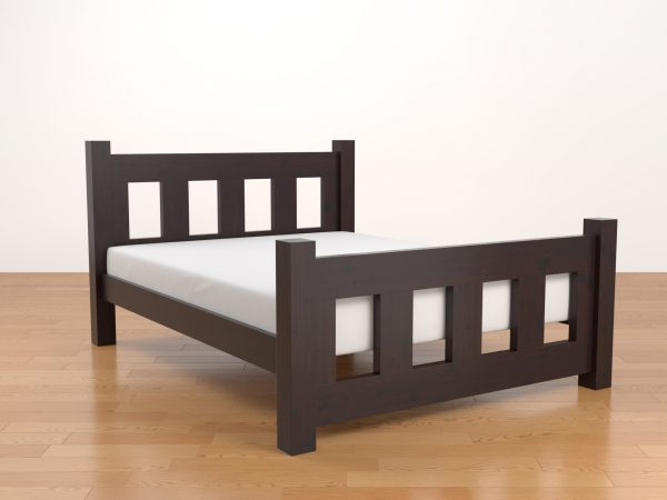 Chester Bed In Darm Mahogany