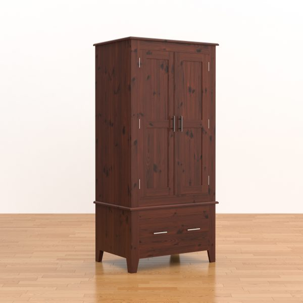 Shaker Double Wardrobe with Drawer