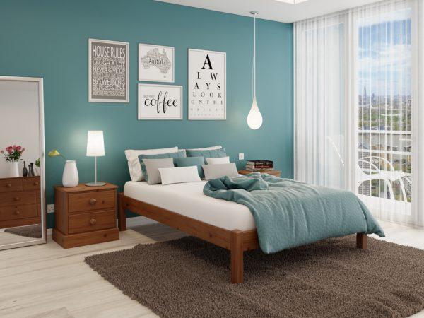 Basic bed Oak Lacquer