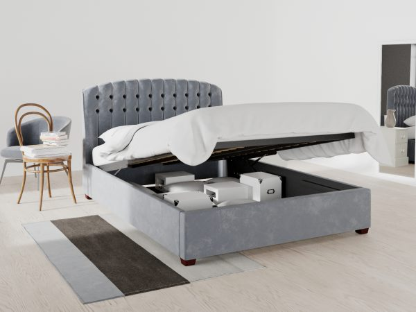 Chelsea Upholstered Ottoman Bed