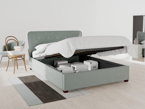Kingston Upholstered Ottoman Bed