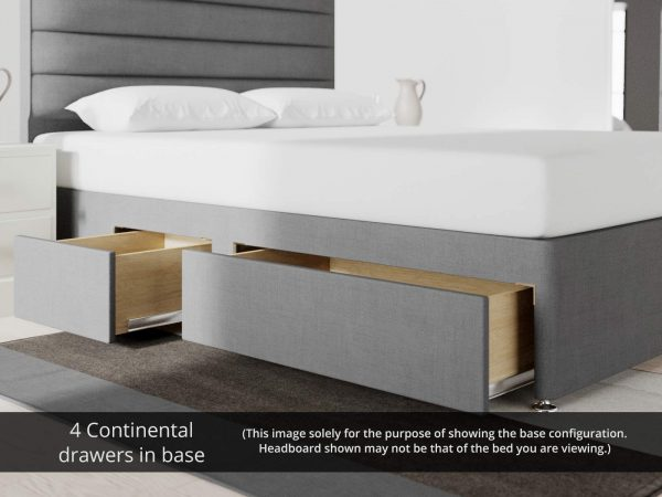 4 Continental drawers in base